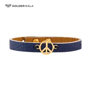 دستبند طلا چرمی