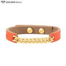 دستبند چرم طلا کد 3603