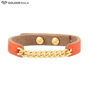 دستبند طلا چرم