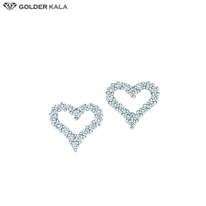 خرید گوشواره طلا زنانه طرح قلب کد 3703