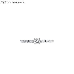 انگشتر زنانه طلا سفید کد 3750