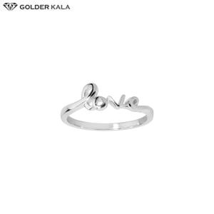 خرید انگشتر زنانه طرح love طلا سفید کد 3936
