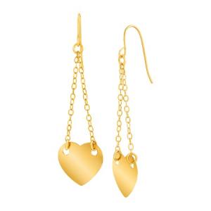 گوشواره طلا زتانه طرح قلب