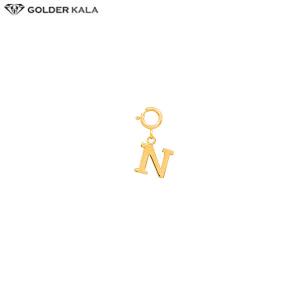 خرید گوشواره حرف N طلا زنانه کد 3566