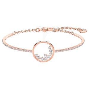 خرید دستبند ظریف لاکچری طرح دایره نگین دار فانتزی