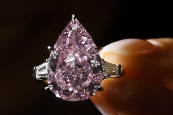 انگشتر الماس صورتی