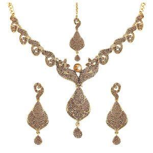 نیم ست طلا هندی کد ۴۱۸۲