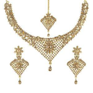 نیم ست طلا هندی کد 4183