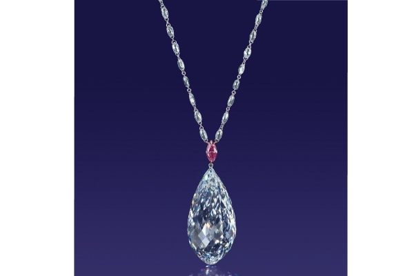 گردنبند الماس Briolette
