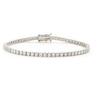 قیمت دستبند تنیسی طلا زنانه سفید کد 4496