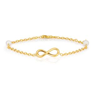 دستبند زنانه طلا بی نهایت کد 4509