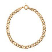 قیمت دستبند طلا مردانه زنجیری گرد رز گلد