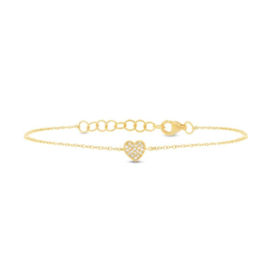 دستبند طلا طرح قلب کد 4465