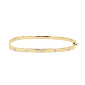 دستبند طلا طرح مربع کد 5571