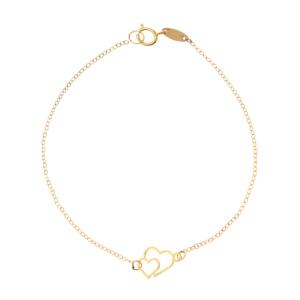 دستبند طلا زنانه قلب کد 4483