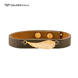 دستبند زنانه چرمی طرح پر