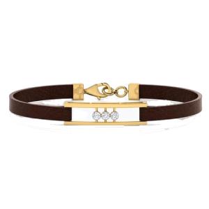 قیمت دستبند طلا چرمی مردانه کد 4672