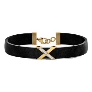 فروش دستبند چرم مردانه طلا کد 4673