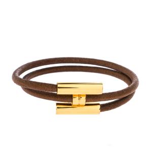 خرید دستبند طلا چرم مردانه کد 4674