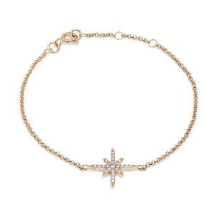 قیمت دستبند زنانه طلا طرح ستاره ای کد 4696