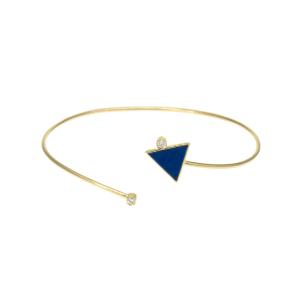 دستبند زنانه ظریف طرح مثلث کد 4703