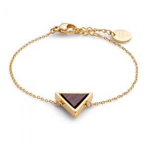 فروش دستبند طلا زنانه اسپرت مثلثی کد 4707
