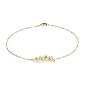 قیمت دستبند طلا طرح برگ کد 4717