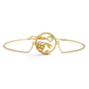 خرید دستبند طلا ماه آبان کد 4725
