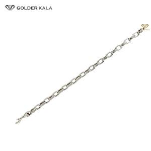 فروش دستبند طلا مردانه زنجیری سفید کد 1661