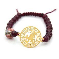 دستبند طلا ارزان قیمت نماد دی ماه کد 5524