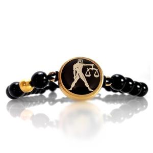 دستبند طلا مهر ماه کد 5450