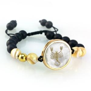 دستبند طلا نماد آبان ماه کد 5467