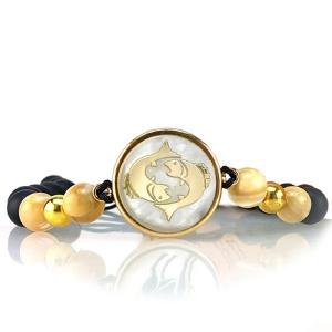 دستبند طلا نماد ماه اسفند کد 5565