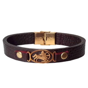 دستبند چرمی ماه آذر کد 5507