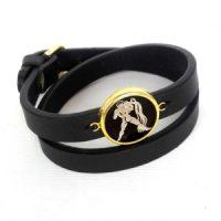 دستبند چرم طلا ماه بهمن کد 5540