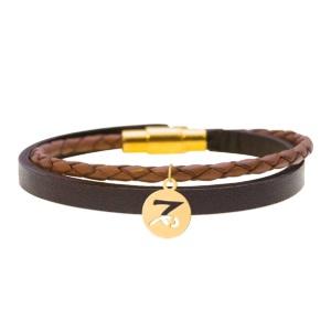 دستبند چرم طلا ماه دی کد 5532