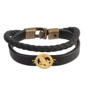 دستبند چرم طلا نماد دی ماه کد 5531