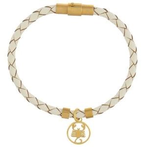 قیمت دستبند چرم طلا نماد ماه آبان کد 5474