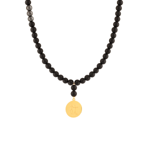 گردنبند طلا نماد ماه اسفند کد 5583