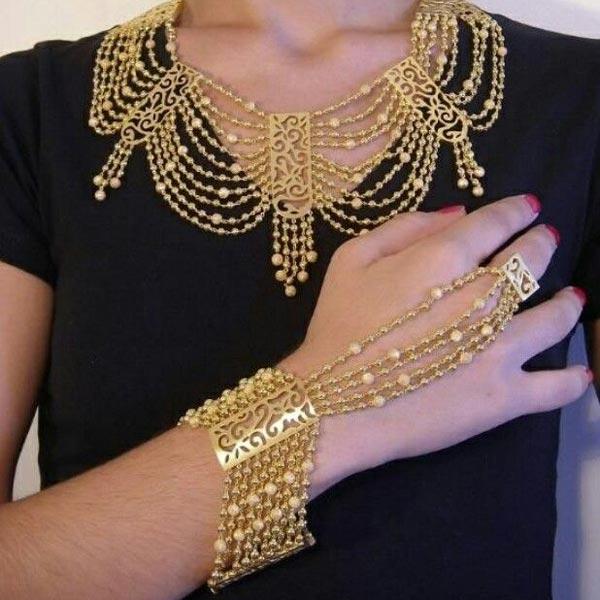 دستبند طلای عربی