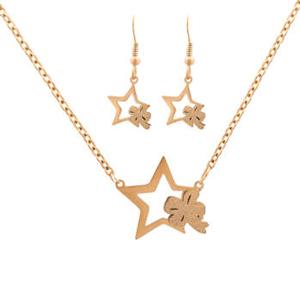 طلا طرح ستاره و پاپیون